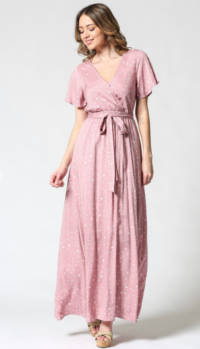 Sweetheart in Pink Maxi Dress