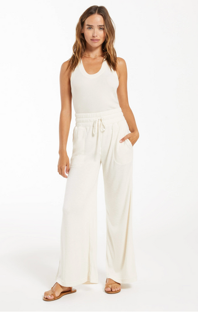 Kim Terry Slub Pant - Bone