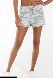 The Camo Sporty Short - Dusty Sage