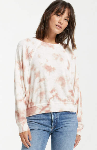 Claire Cloud Tie-Dye Top - Rose