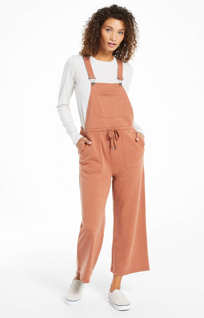 Z Supply Cinched Waist Overalls - Vintage Brown