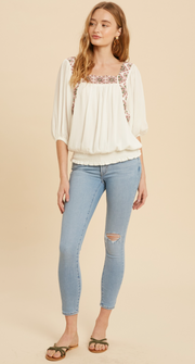 Cristina Chic Embroidered Blouse