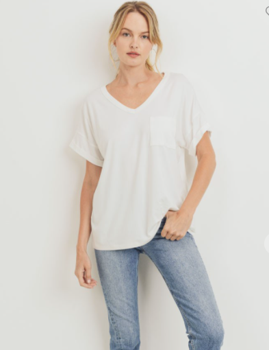 Simply Basic Pocket Tee