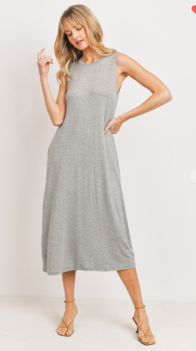Rosie Round Neck Midi Dress