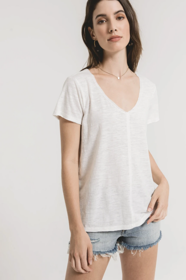 Z Supply Airy Slub Chaparral Tee - Desert White