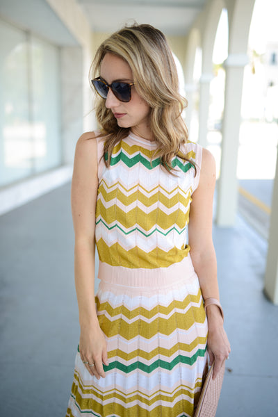 Throwback Chevron Sweater Tank