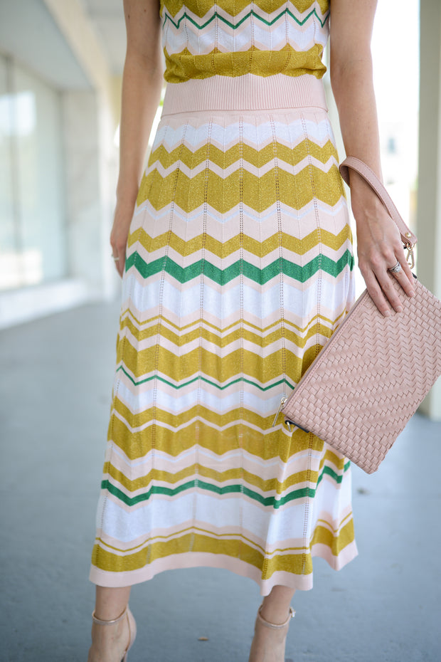 Throwback Chevron Skirt
