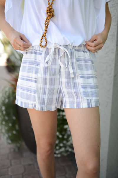 Take it Easy Woven Striped Shorts