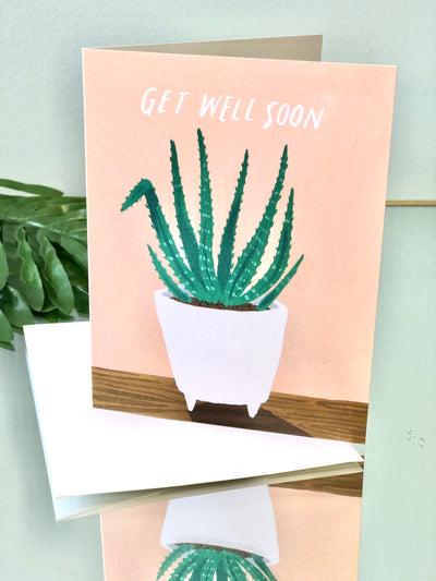 Aloe Plant Card - Get Well Soon