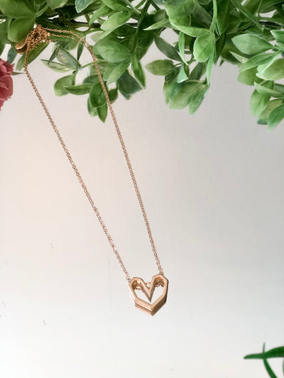Geometric Heart Necklace