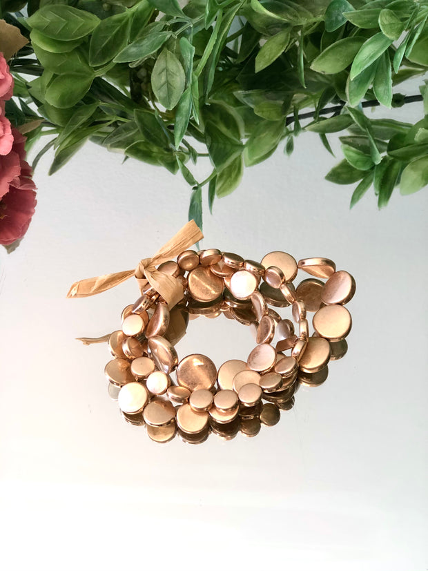 Golden Coin Bracelet Stack