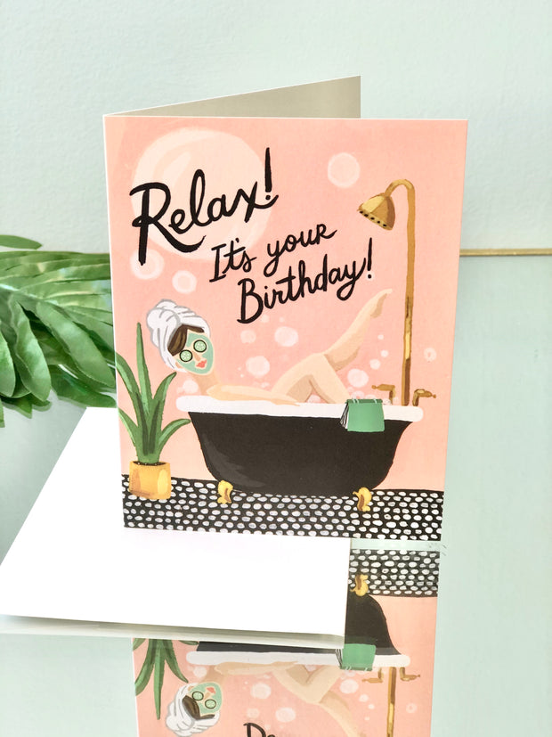 Bubble Bath Card - Birthday Card