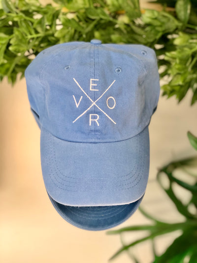 Vero Hat - Sky Blue and White