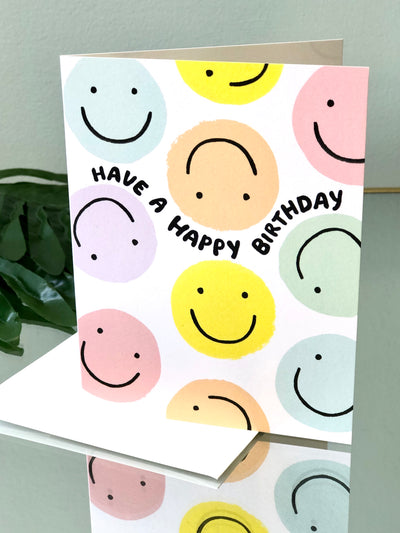 Smiley Birthday Card - Birthday