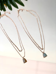 Layered On Gem Necklace