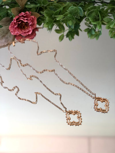 Regal Stud Long Necklace