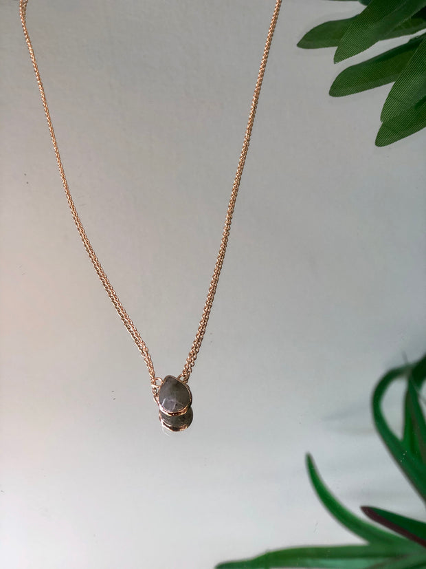 Summer Storm Teardrop Necklace