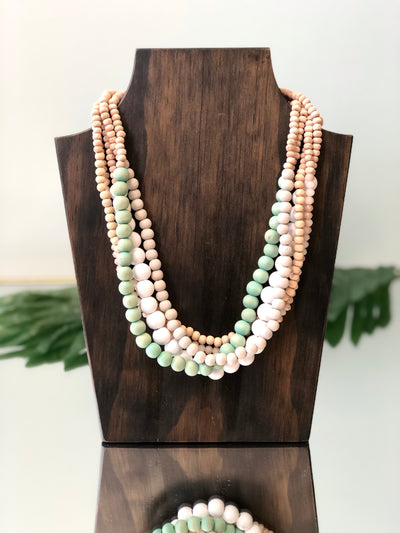 Touch of Green Multi-Layered Beaded Necklace