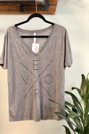 Vero Shirt - V-Neck Heather Grey