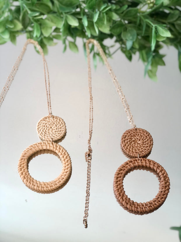 Woven Rattan Necklace