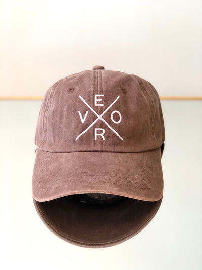 Vero Hat - Vintage Brown & White