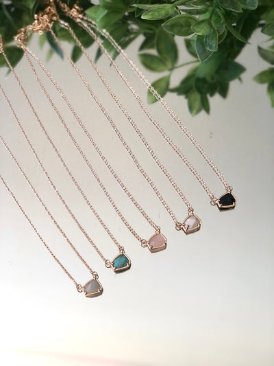 Precious Stone Short Necklace