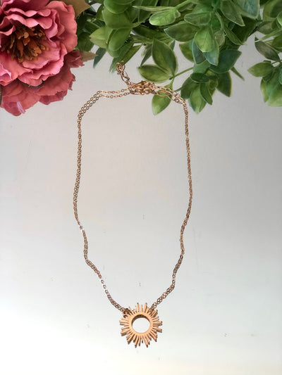 Sunburst Short Necklace