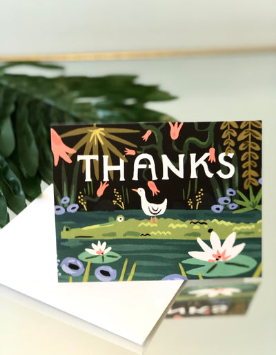 Blue Lagoon Card - Thank You