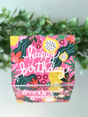 Flower Power - Happy Birthday Card