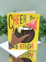 Coconut Lime Cheers Birthday - Birthday Card