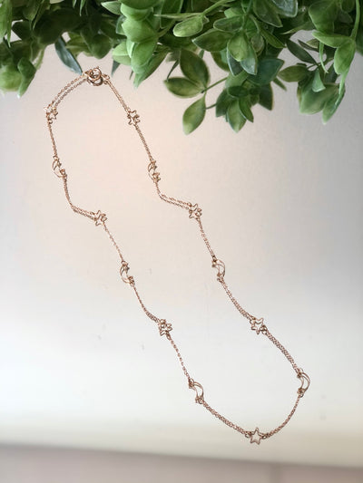 Moon & Stars Long Necklace