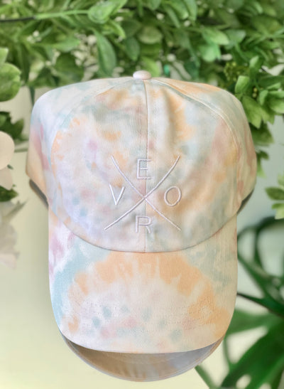 Vero Hat- Tie Dye with White