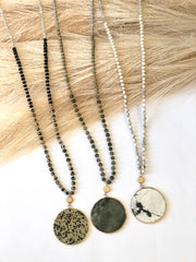 Stone Disc Necklace