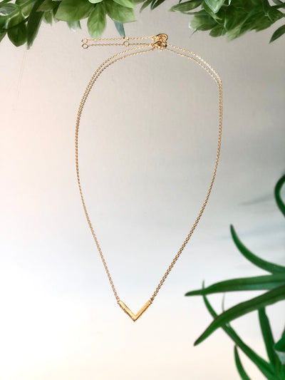 Dainty Gold V Necklace