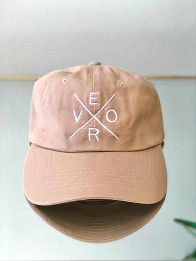 Vero Hat - Taupe and White