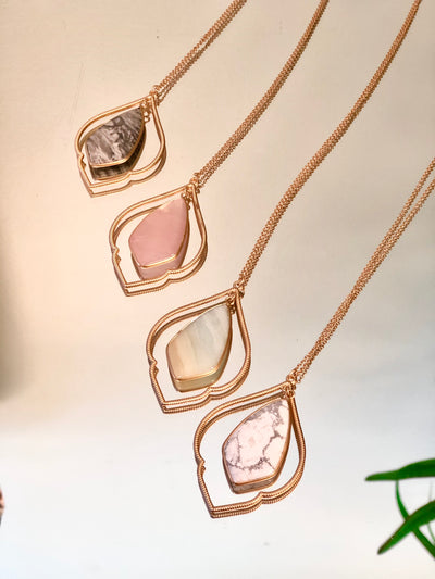 Delicate Swaying Gem Necklace