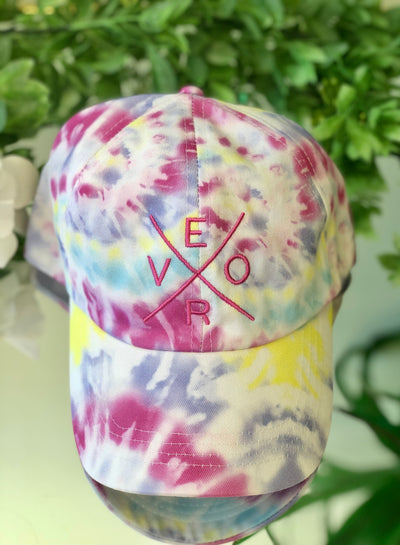 Vero Hat - Tie Dye with Pink
