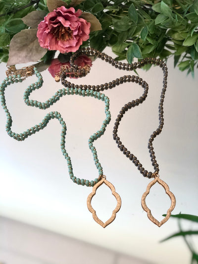Moroccan Beaded Long Necklace