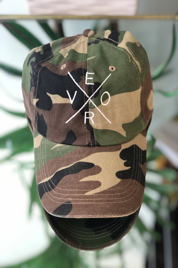 Vero Hat - Camo & White