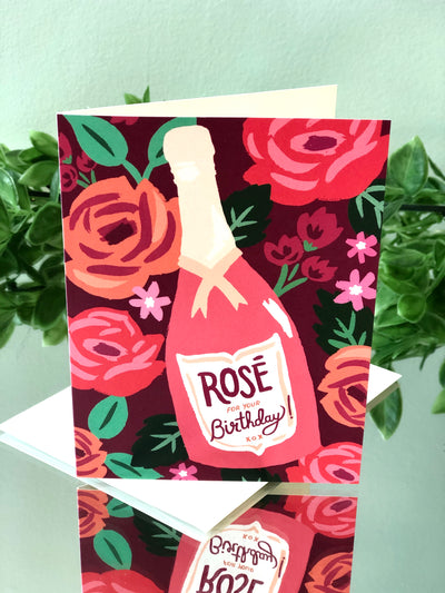 Rosé Birthday - Birthday Card