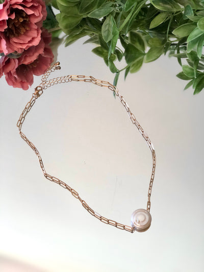 Full Moon Pearl Necklace