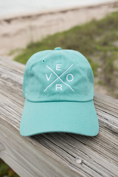 Vero Hat - Teal & White