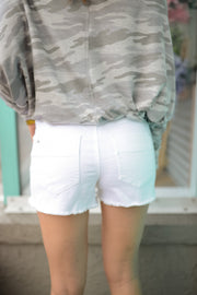White Cutoff Denim Shorts