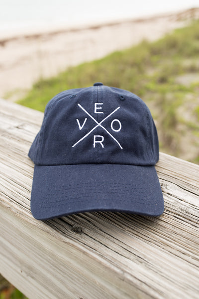 Vero Hat - Navy & White