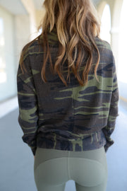 Z Supply - The Camo Thermal Sweatshirt