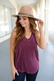 Z Supply - The Vagabond Tank- Mauve Wine