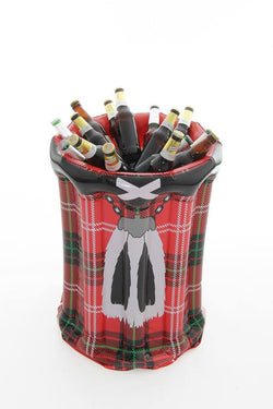 INSTAKILT INFLATABLE TARTAN BEER COOLER - scotlandsgiftstore.co.uk