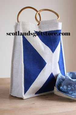 SALTIRE JUTE SHOPPER - scotlandsgiftstore.co.uk