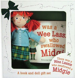 THERE WAS A WEE LASSIE WHO SWALLOWED A MIDGIE BOOK & DOLL GIFT SET - scotlandsgiftstore.co.uk