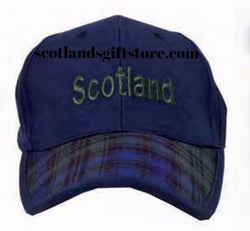 SCOTTISH BLACK WATCH TARTAN BASEBALL CAP - scotlandsgiftstore.co.uk